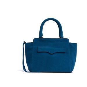 Rebecca Minkoff Avery Mini Tote Leather Blue NWT
